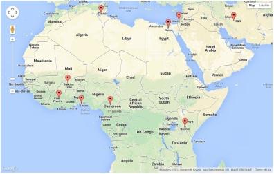 Site Visitors - Africa