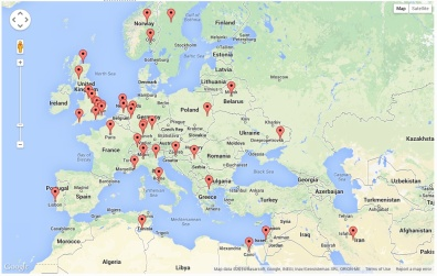 Site Visitors - Europe