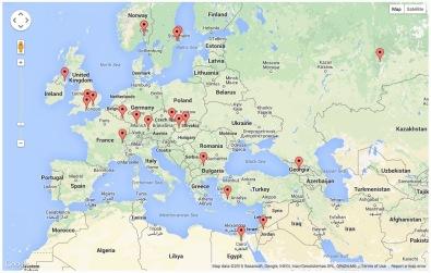 Andromeda Page Visits - Europe